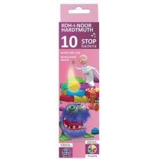 """Пластилин """"Stop bacteria"""", картонная упаковка, 200 г, 10 цветов"""