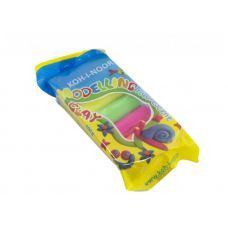 Пластилин Fluorescent, полиэтиленовая упаковка 100г, 5 неон цветов