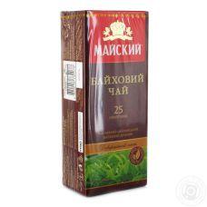 Чай Майский байховий, 25x1,5г, черный