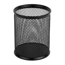 Подставка для ручек круглая 80х80х100мм металл черный