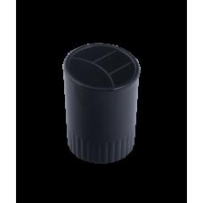 Стакан для ручек 4 отделения пластик черный