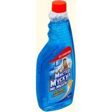 Средство для стекла М.МУСКУЛ 500мл сменный синий со спиртом