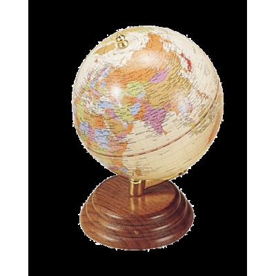 Глобус на деревянной подставке, орех (0909WPN)