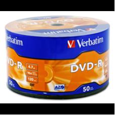 Диск VERBATIM DVD-R 4,7Gb 16x Bulk 50 pcs Lite