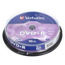 Диск VERBATIM DVD+R 4,7Gb 16x Cake 10 pcs