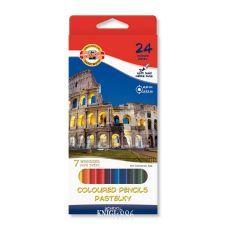 Карандаши цветные 24 шт. 7 чудес