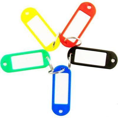 Брелок для ключей пластиковый 60х22мм ассорти (E41637)