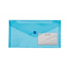 Папка-конверт на кнопке DL (240x130мм) TRAVEL синий
