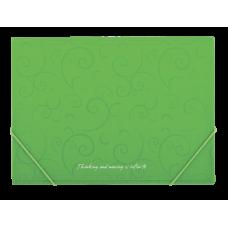 Папка на резинках А4 Barocco салатовый