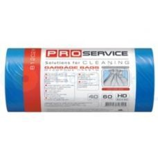 Пакет для мусора п/е 60л/20шт 60*80 синий ХД Optimum