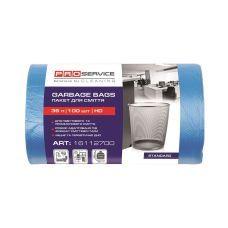 Пакет для мусора п/е 35л/100шт 50*55 синий PRO