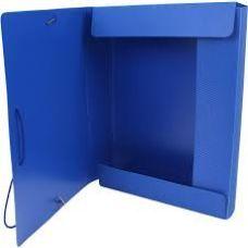 Папка-бокс А4 на гумках Economix 20мм прозрачно-синяяя