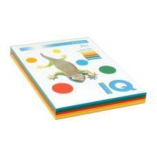 Набор бумаги цветной IQ А4 80г/м2 5 цветов по 50л. 250л. RB02 насыщенный