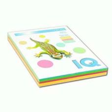 Набор бумаги цветной IQ А4 80г/м2 4 цвета по 50л. 200л. RB04 неон