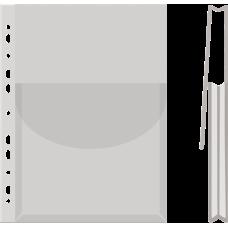 Файл А4 глянцевый з клапаном 170мкм 1шт.
