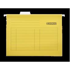 Файл подвесной А4 картон желтый