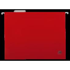 Файл подвесной А4 пластиковый красный