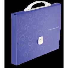Портфель A4 35мм пластиковый BAROCCO фиолетовый