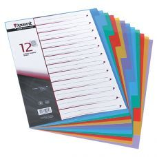 Индекс-разделитель цветной 12 позиций