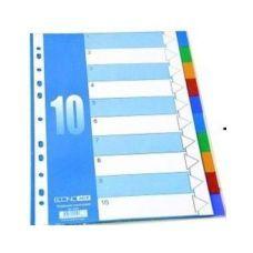 Индекс-разделитель А4 Economix пластик 10 позиций цветной