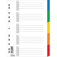 Индекс-разделитель цифровой А4 5 позиций цветной с листом описи