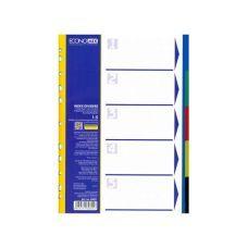 Индекс-разделитель А4 Economix пластик 5 позиций цветной