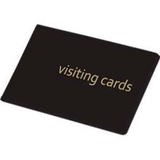 Визитница на 24 визиток PVC черный