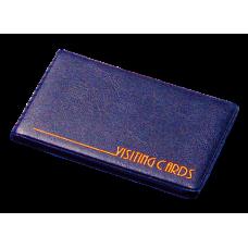 Визитница на 24 визиток винил темно-синий