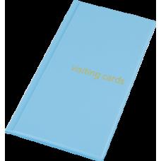 Визитница на 96 визиток PVC голубой