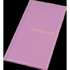 Визитница на 96 визиток PVC розовый