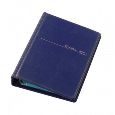 Визитница на 120 визиток на кольцах винил темно-синий (0304-0007-02)