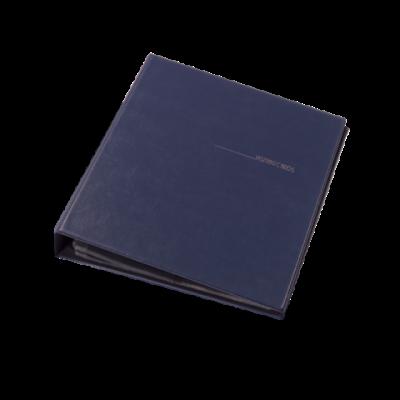 Визитница на 400 визиток на кольцах винил темно-синий (0304-0009-02)