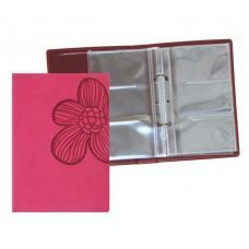 Визитница на 90 визиток VIVELLA Цветок красный