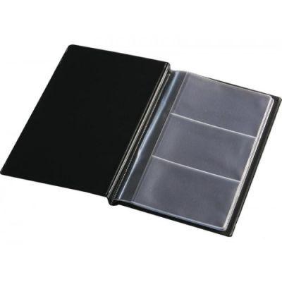 Визитница на 60 визиток винил черный (0304-0004-01)