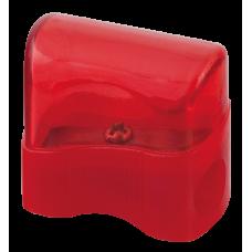 Точилка пластиковая c контейнером на 1 лезвие прозрачная