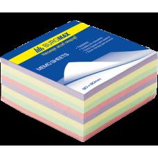 Блок бумаги для заметок Декор 90х90х40мм не проклеенный