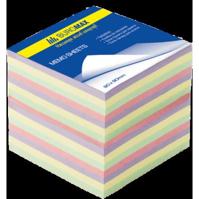 Блок бумаги для заметок Декор 90х90х70мм не проклеенный (BM.2289)