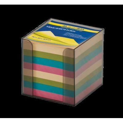 Бокс с цветной бумагой 90х90х90мм  дымчатый (BM.2291-02)