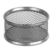 Подставка для скрепок 80x80x40мм металл серебро