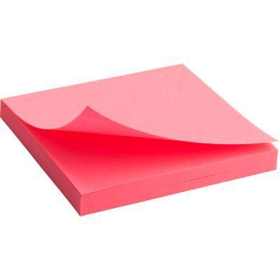 Блок бумаги с клейким слоем 75x75мм 80л  розовый неон (2414-13-A)