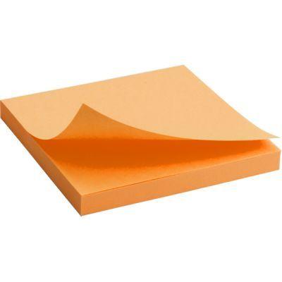Блок бумаги с клейким слоем 75x75мм 80л  оранжевый неон (2414-15-A)