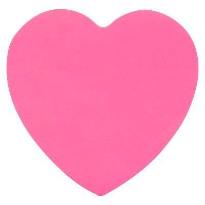 Блок бумаги с клейким слоем сердце 70х70мм 50л (2443-01-A)