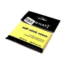 Блок бумаги с клейким слоем 50х75мм Format 80 лист желтый