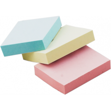 Блок бумаги с клейким слоем 40х59мм 100л. ассорти