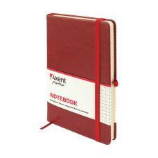 Книга записная Partner Lux 125х195 96л клетка бордовый