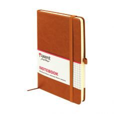 Книга записная Partner Lux 125х195 96л клетка коричневый