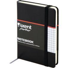 Книга записная Partner 95х140 96л клетка черный