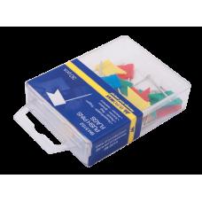 Кнопки-гвоздики цветные флажки 30шт пластиковый контейнер