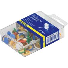 Кнопки цветные 100шт пластиковое покрытие контейнер