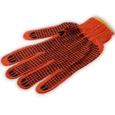 Перчатки хлопковые с ПВХ точкой, плотные, 10 клас, 3 нитки